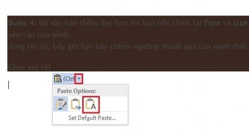 Cách xóa màu nền khi copy từ internet về word 2007 chỉ với vài thao tác đơn giản